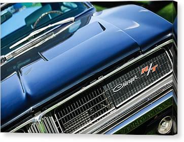 1969 Dodge Charger R-t Emblem Canvas Print by Jill Reger