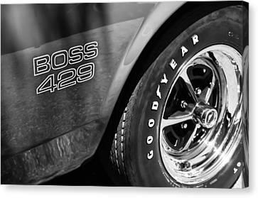 1969 Ford Mustang Boss 429 Sportsroof Side Emblem - Wheel Canvas Print