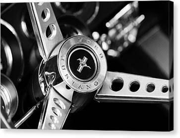 1969 Ford Mustang Mach 1 Steering Wheel Canvas Print