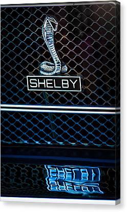 1969 Shelby Gt500 Convertible 428 Cobra Jet Grille Emblem Canvas Print by Jill Reger