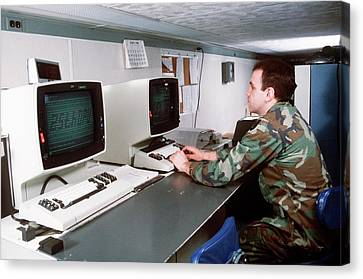 1980s Military Computing Canvas Print
