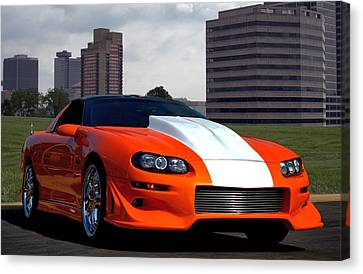 Canvas Print featuring the photograph 2002 Camaro Z28 by Tim McCullough