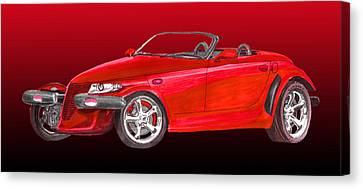 2002 Plymouth Prowler Canvas Print by Jack Pumphrey