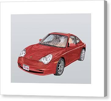 2002 Porsche 996  Canvas Print by Jack Pumphrey