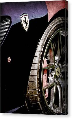 2011 Ferrari 599 Gto Emblem - Wheel Canvas Print by Jill Reger