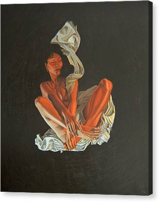 Canvas Print featuring the painting 2 30 Am by Thu Nguyen