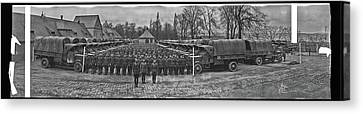 3rd Army Supply Train, And Motor Park Canvas Print