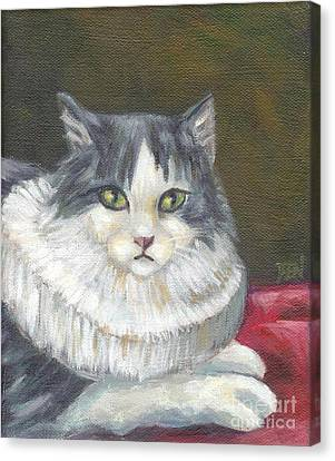 A Cat Of Peter Paul Rubens Style Canvas Print