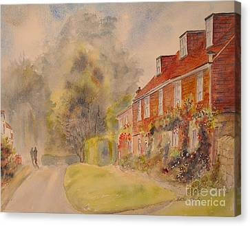 Canvas Print featuring the painting A Corner Of Winchelsea by Beatrice Cloake