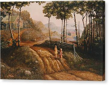 A Country Lane Canvas Print by Duane R Probus