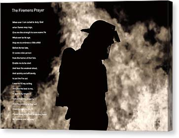A Firemens Prayer Canvas Print