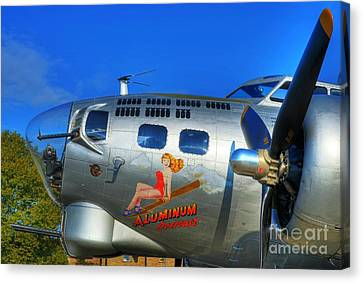 A Flying Fortress Canvas Print by Mel Steinhauer