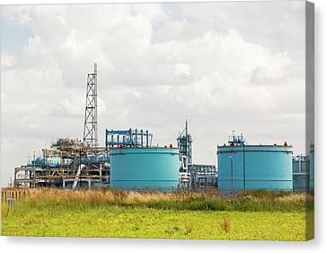 A Gas Plant Receiving North Sea Gas Canvas Print