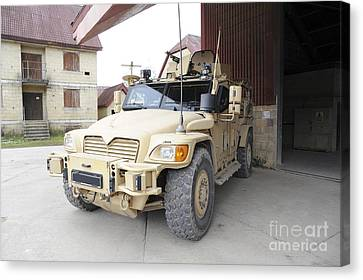 A Husky Tsv Armored Vehicle Canvas Print