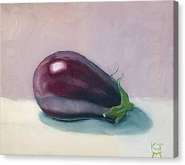 A Is For Aubergine Canvas Print by Katherine Miller