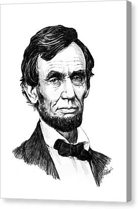 Lincoln Drawings Canvas Print - A. Lincoln by Harry West