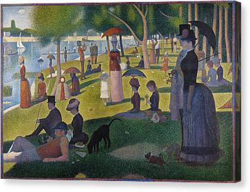 A Sunday On La Grande Jatte Canvas Print by Georges Seurat