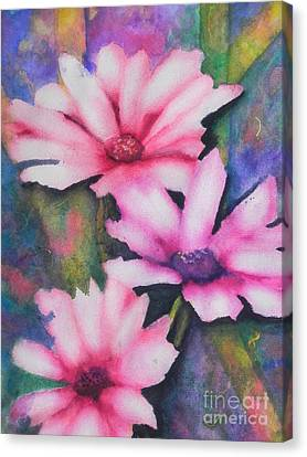 A Touch Of Pink Canvas Print by Chrisann Ellis