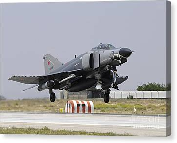 A Turkish Air Force F-4e 2020 Canvas Print by Riccardo Niccoli