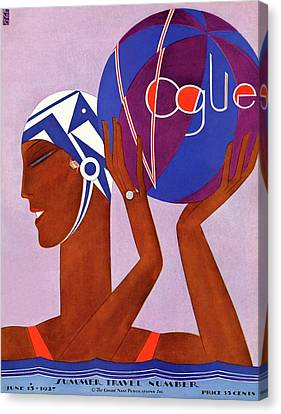 A Vintage Vogue Magazine Cover Of An African Canvas Print