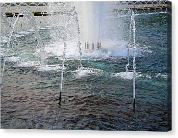Canvas Print featuring the photograph A World War Fountain by Cora Wandel