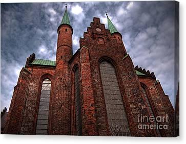 Aarhus Church Hdr Canvas Print by Antony McAulay