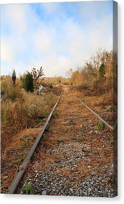 Abandoned Tracks Canvas Print by Melinda Fawver