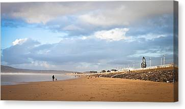 Aberafan Beach Canvas Print by Tom Gowanlock