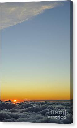 Above Cloudscape At Sunset Canvas Print by Sami Sarkis