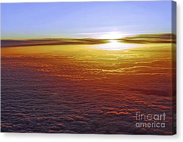 Red Skies Canvas Print - Above The Clouds by Elena Elisseeva