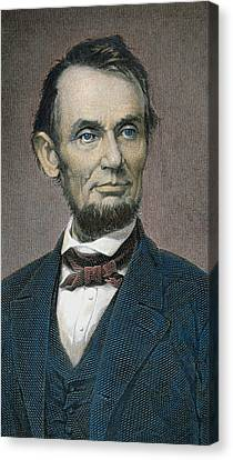 Abolitionist Canvas Print - Abraham Lincoln by American School