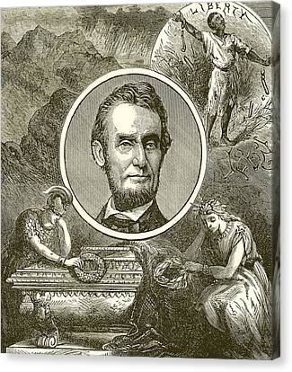 Abolitionist Canvas Print - Abraham Lincoln by English School