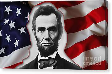 Abraham Lincoln Canvas Print by Marvin Blaine