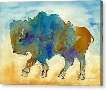 Abstract Buffalo Canvas Print by Nan Wright