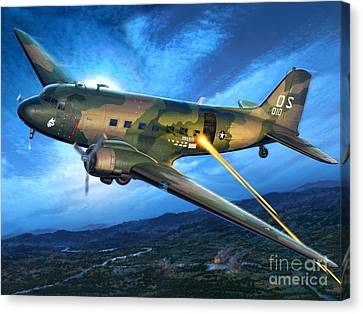 Ac-47 Spooky Canvas Print by Stu Shepherd