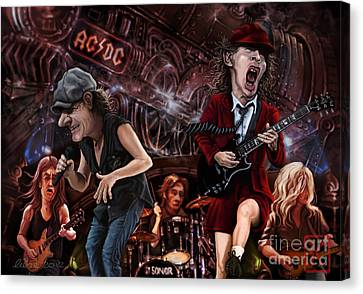 Johnson Canvas Print - Ac/dc by Andre Koekemoer