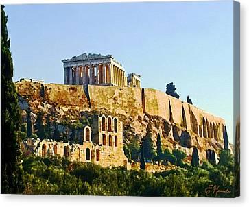 Acropolis Canvas Print by Ellen Henneke