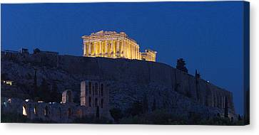 Acropolis Of Athens At Dusk, Athens Canvas Print