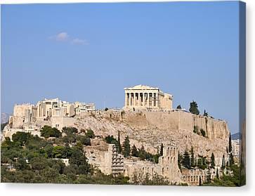 Acropolis Of Athens Canvas Print by George Atsametakis