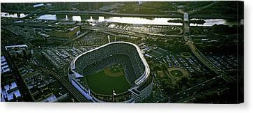 Aerial View Of A Baseball Stadium Canvas Print