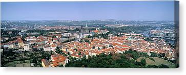 Aerial View Of A City, Prague, Czech Canvas Print by Panoramic Images