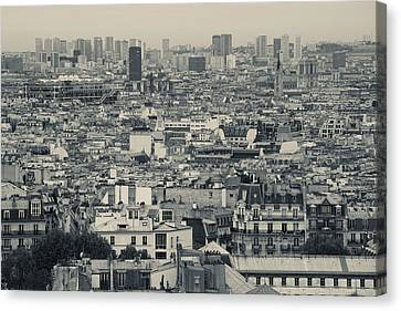 Aerial View Of A City Viewed Canvas Print by Panoramic Images