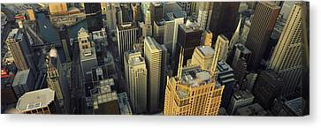 Aerial View Of Skyscrapers In A City Canvas Print by Panoramic Images