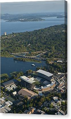 Aerial View Of The New Husky Stadium Canvas Print