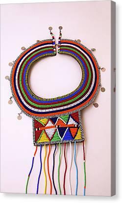 Africa, Kenya Maasai Tribal Beads Canvas Print by Kymri Wilt