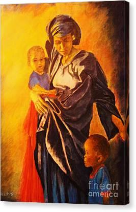 African Madonna Canvas Print by Dagmar Helbig
