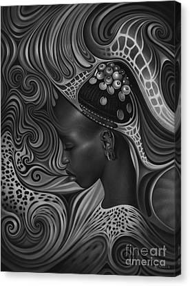 African Spirits II Canvas Print by Ricardo Chavez-Mendez
