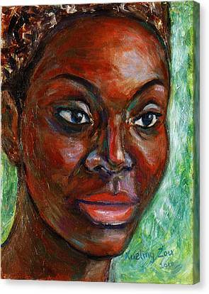 Canvas Print featuring the painting African Woman by Xueling Zou