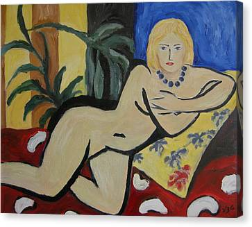 After Matisse Canvas Print by Victoria Lakes