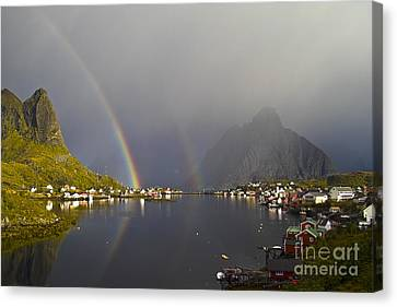 Koehrer-wagner_heiko Canvas Print - After The Rain In Reine by Heiko Koehrer-Wagner